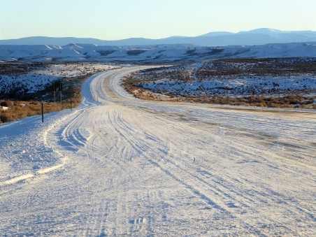 A back road in southern Wyoming