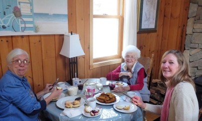 Joanne, Norma and Carol-Lynn, CHristmas Eve brunch at my cottage