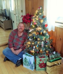 Me and my little tree, Christmas Eve Day