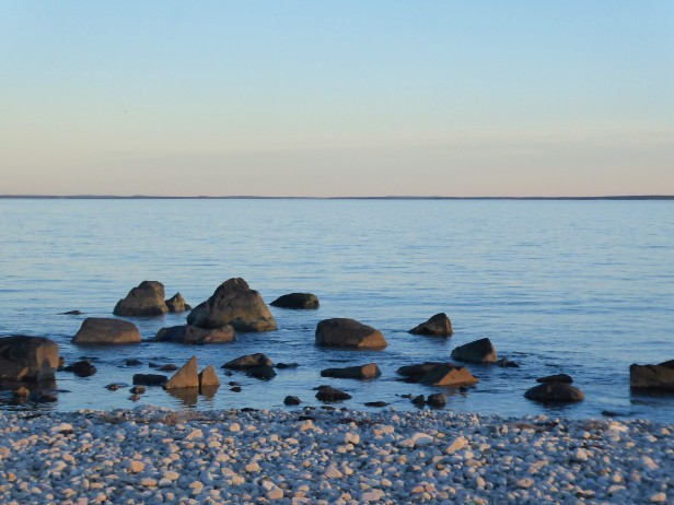 Calm seas at Horseneck Beach, Massachusetts