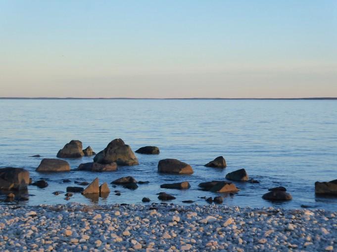 Calm seas at Horseneck Beach, Massachusetts