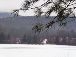 Frozen lake in New Hampshire