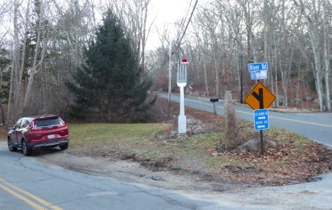 The literal fork in the road, Westport, Massachusetts