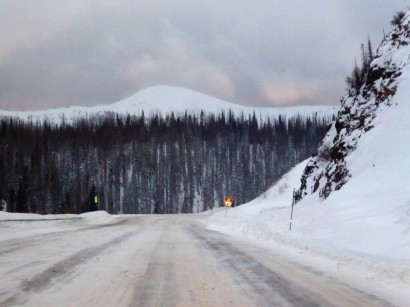 The drive to Pagosa Hot Springs