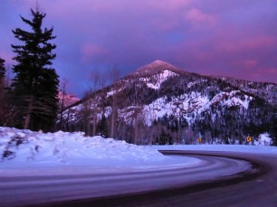 Lavender skies after sunset near Pagosa
