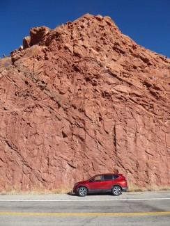 My car, trying to blend in with the scenery