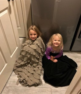 """Eleanor and Hallie in the """"Storm Closet"""""""