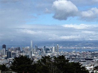 View of San Francisco from the deck