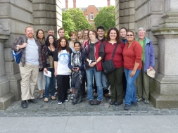 With my non-drunken student group in Dublin