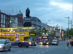 The bustling streets of Dublin as night falls... hurry home!