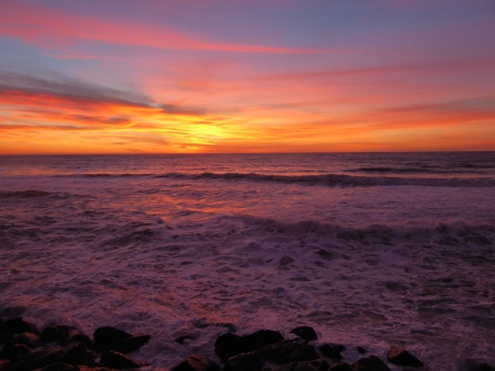 A purple sunset at Pacifica