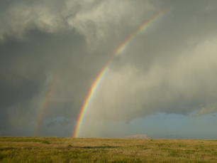 Double Rainbows in Kansas